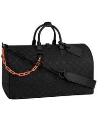Louis Vuitton Borsa in pelle nero Keepall