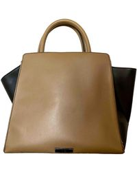 Zac Posen Leather Handbag - Natural