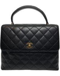 Chanel Sac à main Coco Handle en Cuir Noir