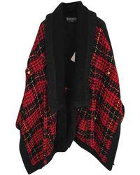 Balmain Wool Cape - Red