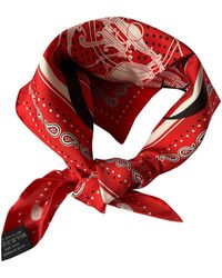 Hermès Bandana 55 Seide Halstuch - Rot
