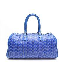 Goyard Croisière Blue Cloth Travel Bag