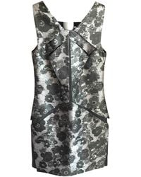 Christopher Kane - Silver Silk Dress - Lyst