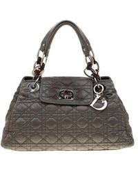 Dior Charming Leather Satchel - Gray