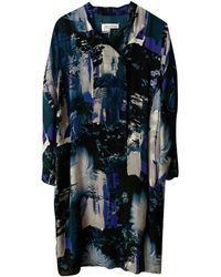 Maison Margiela Silk Mid-length Dress - Blue