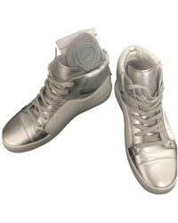 Chanel Leather Sneakers - White
