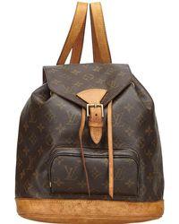 Louis Vuitton Montsouris Brown Cloth