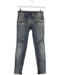 Balmain \n Blue Cotton Jeans
