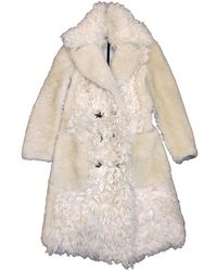 Burberry Shearling Coat - White