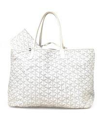 Goyard Saint-louis Cloth Tote - White