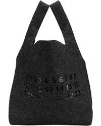 Maison Margiela Wolle Taschen - Schwarz