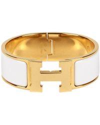 Hermès Clic H bracelet - Blanc