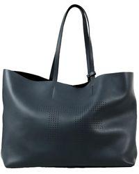 Tom Ford Grey Leather Handbag - Gray