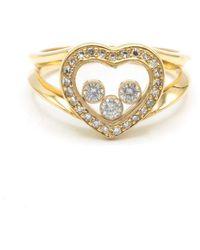 Chopard Anillo en oro amarillo dorado Happy Diamonds - Metálico