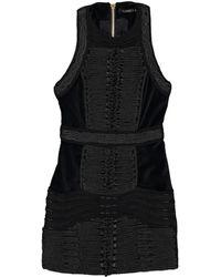 Balmain - Black Cotton Dress - Lyst