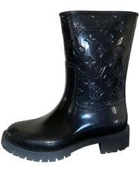 Louis Vuitton Botas en caucho negro Drops