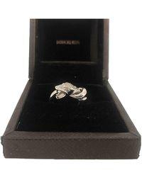 Boucheron Trouble Metallic White Gold Ring - Black