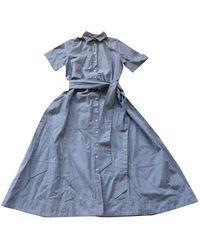 Lisa Marie Fernandez Vestido en algodón azul