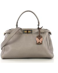 Fendi Peekaboo Brown Leather Handbag