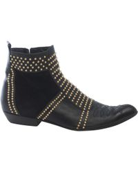 Anine Bing - Pre-owned Black Leather Ankle Boots - Lyst