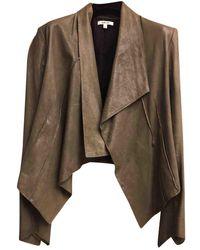 Helmut Lang - Grey Leather Jacket - Lyst