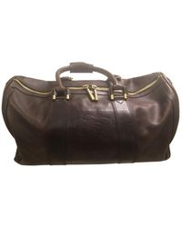 Burberry Leather Weekend Bag - Brown