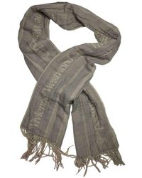 Vivienne Westwood Wool Scarf - Grey