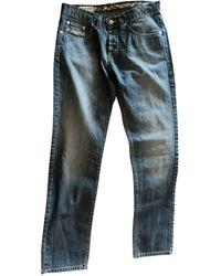 Burberry Blue Cotton Jeans - Multicolor