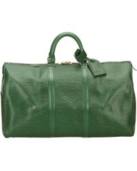Louis Vuitton   Pre-owned Keepall Leather 48h Bag   Lyst