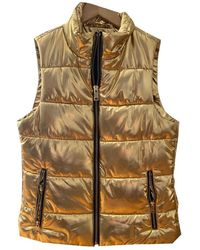 Michael Kors Gold Polyester Coats - Multicolor