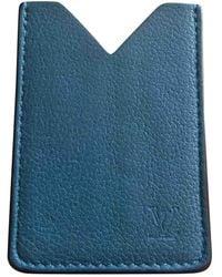 Louis Vuitton Marroquinería en cuero azul