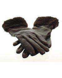 UGG Leather Gloves - Brown