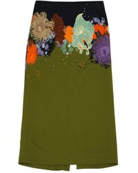Dries Van Noten Gonna in sintetico multicolore - Verde