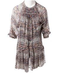 587f37e276e Isabel Marant Ramses Striped Silk And Linen-blend Mini Dress in ...