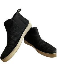 Michael Kors Leather Trainers - Black