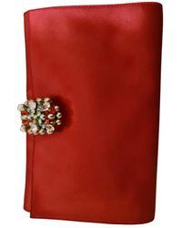 Rodo Silk Clutch Bag - Red