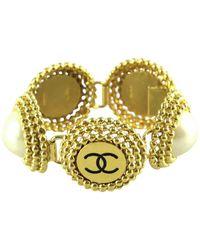 Chanel Pulsera en metal dorado CC - Metálico