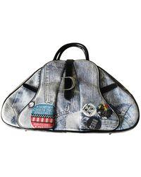 Dior Saddle Bowler Blue Denim - Jeans Handbag