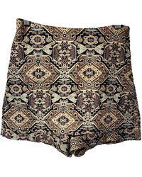 Maje Multicolour Polyester Shorts Fall Winter 2018