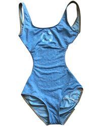 Chanel Blue Polyester Swimwear