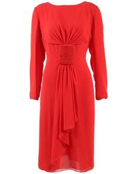 Valentino - Pre-owned Red Silk Dresses - Lyst