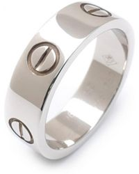 Cartier - Love Silver White Gold - Lyst