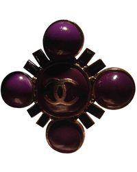 Chanel Bagues en Métal Violet