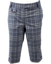 Burberry Shorts in cotone blu