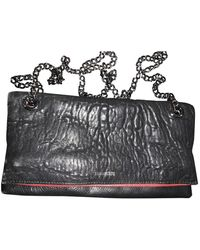 Zadig & Voltaire Rock Black Leather Clutch Bag
