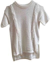 Michael Kors White Wool Knitwear