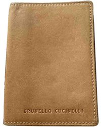 Brunello Cucinelli Beige Leather Purse/wallet - Natural