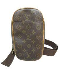Louis Vuitton Gange Leinen Taschen - Braun