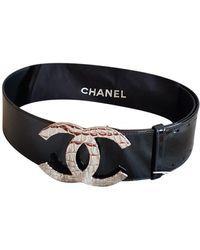 Chanel Cinturón de Charol - Negro