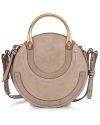 Chloé Pixie Gray Suede Handbag